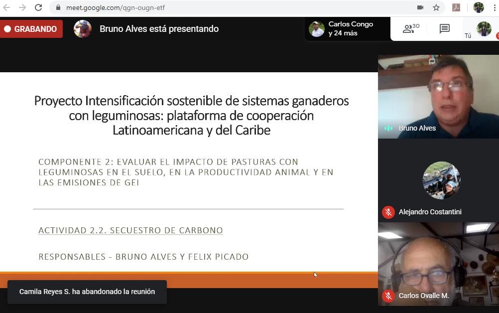 Seminario sobre stocks de carbono en el suelo dado por el Dr. Bruno Alves de EMBRAPA, Brasil.