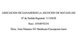 Asociación de Ganaderos La Asunción de Matahuasi